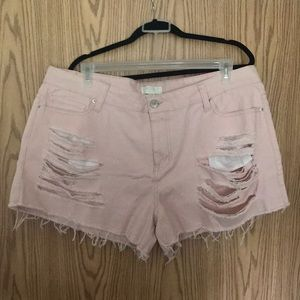 Forever 21 Plus Pink Shorts